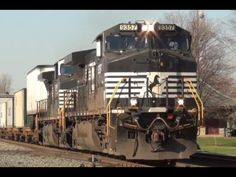 Norfolk Southern on Windy Day at Wauseon