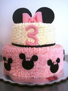 Birthday girl cake 20 Ideas for 2019 Bolo Da Minnie Mouse, Minnie Mouse Cookies, Mickey Mouse Cake, Minnie Mouse Party, Mickey Cakes, Minnie Mouse Birthday Decorations, Minnie Mouse First Birthday, 1st Birthday Party For Girls, Cake Birthday