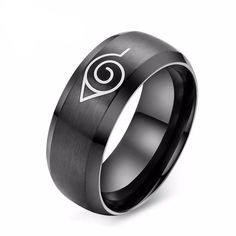 Naruto Ring - Fashion Steel Konoha Ring