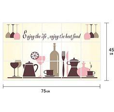 nice RETUROM Nuevo patrón de cocina extraíble DIY del vinilo de la etiqueta de la pared Decoración para el Hogar Mas info: http://www.comprargangas.com/producto/returom-nuevo-patron-de-cocina-extraible-diy-del-vinilo-de-la-etiqueta-de-la-pared-decoracion-para-el-hogar/