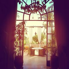 A door opening on the palmgrove @Hotel Les Deux Tours Marrakech by North Traveller blog