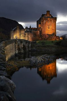 Eilean Donan Castle - one of the most beautiful castle's in Scotland and perfect for photography! It's a must see destination if your travelling in the highlands of Scotland.Check out . by wolfypic Scotland Castles, Scottish Castles, Scotland Uk, Highlands Scotland, Oh The Places You'll Go, Places To Travel, Places To Visit, Beautiful Castles, Beautiful Places