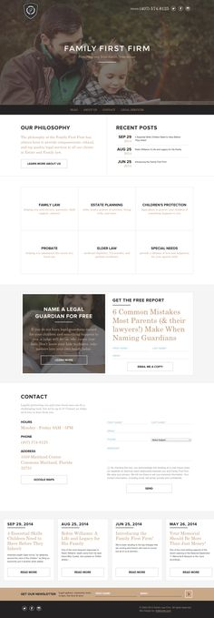 Single paged family law firm website #webdesign #layout