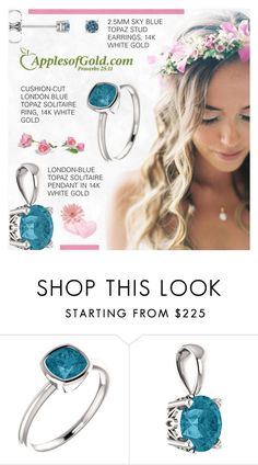 """""""Apples of Gold : Blue Topaz Jewelry"""" by novalikarida ❤ liked on Polyvore featuring Apples of Gold"""