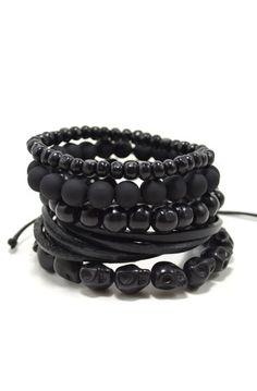 5 Pack Black Out Bracelet