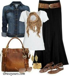 3. Church outfit: This outfit is great for Church because you've got the long skirt, that isn't exposing any skin, and is very fashionable. this is something I would defiantly wear to church.