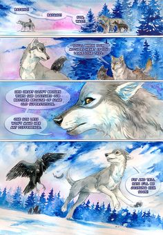 Raigho - mini comic by akreon on DeviantArt Anime Wolf, Off White Comic, Wolf Comics, Fantasy Wolf, Furry Wolf, Summer Painting, Wolf Pictures, White Books, Fantasy Comics