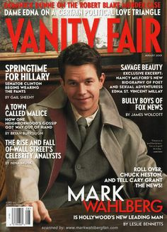 Mark Wahlberg on the Cover of Vanity Fair 2001