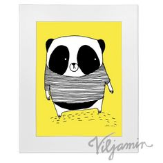 Panda keltainen 50cm x 70cm