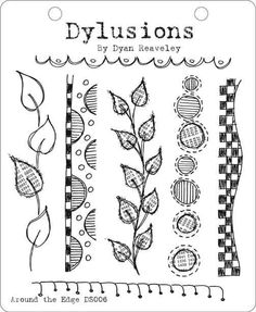 Dylusions Unmounted Rubber Stamps - Around the Edge [DYR34421/DS006] - Save 15% at Joggles.com