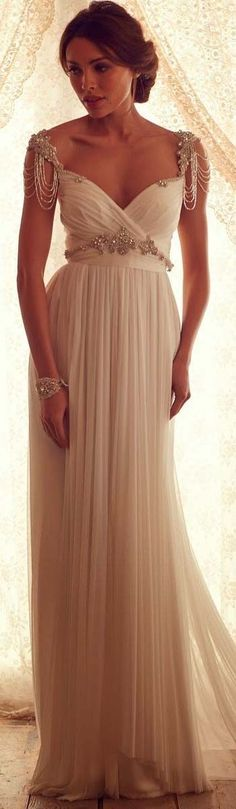 gorgeous chiffon elegant beaded cap sleeves vintage wedding dress 2017