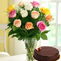 Midnight Choco Treat : buy flowers online, buy cake online, send flowers, cakes to India