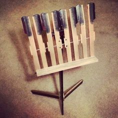 recycled piano key stand....beautiful....