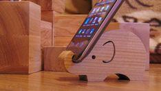 Wooden elephant phane holder by AndeteLT on Etsy