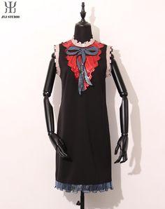 Aliexpress.com : Buy Blue Black Sequin Dress With Bow Irregular Stitching Sleeveless Dresses Women Geometric Mini Sexy Dress Work Ladies Office Dress from Reliable dress bird suppliers on JYJ STUDIO | Alibaba Group
