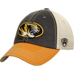 Missouri Tigers Top of the World Black Yellow Offroad Adj Snapback Hat Cap