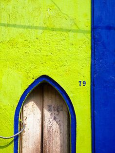 San Angel, Mexico door colors