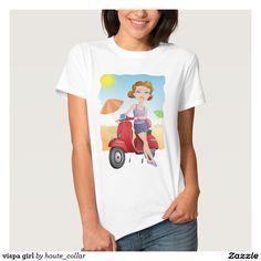 vispa girl tee shirt $22.30 per shirt   Artwork designed by houte_collar
