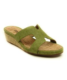 This Lime Kallita Leather Sandal by VANELi is perfect! #zulilyfinds