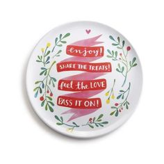 """Pass it on Sharing Plate This """"""""Pass It On"""""""" sharing plate combines formal functionality and casual design to make it the perfect hostess gift. This """"""""Give Thanks"""""""" ceramic giving platter is presented"""