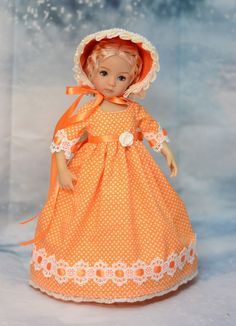 "SOLD ""Rays of Warmth"" Regency Dress, Outfit, Clothes for 13"" Effner Little Darling #DiannaEffner"