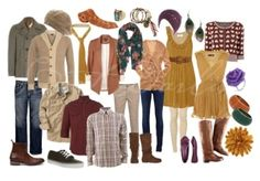 """What to wear for Photo Shoot - stick to a general color theme, like """"earth tones"""""""