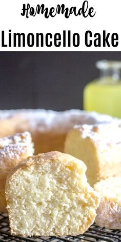 A refreshing simple Limoncello Cake, the perfect dessert or perfect with a cup of tea or coffee. A sprinkling of Powdered Sugar is all it needs. Gourmet Recipes, Baking Recipes, Cake Recipes, Dessert Recipes, Gourmet Desserts, Italian Desserts, Lemon Desserts, Lemon Recipes, Just Desserts
