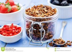 Granola With Nuts, Goji Berries And Strawberries - Download From Over 29 Million High Quality Stock Photos, Images, Vectors. Sign up for FREE today. Image: 49667981