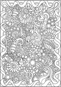 Doodle Coloring Pages Colouring Adult Detailed Advanced Printable Kleuren Voor Volwassenen Coloriage Pour Adulte Anti