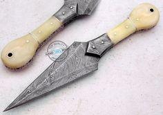 "9.00"" Custom Hand Made Beautiful Damascus steel Dagger Knife (AA-0313-4)"