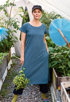 Gudrun Sjoden's Striped Eco Cotton dress - great for layering up