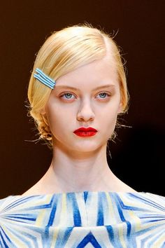 so into the use of bobby pins as artwork for updos all over the runways lately...
