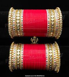 67 Ideas For Indian Bridal Jewelry Kundan Brides Red Wedding Chura, Wedding Art, Farm Wedding, Wedding Couples, Boho Wedding, Wedding Reception, Red Wedding, Wedding Ideas, Bridal Bangles