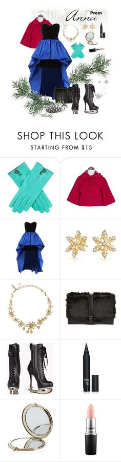 """""""Anna from """"Frozen"""" PROM"""" by le-piano-argent ❤ liked on Polyvore featuring GOGO Girl, Michael Kors, Bling Jewelry, Oscar de la Renta, Sam Edelman, Dsquared2, Henri Bendel and MAC Cosmetics"""