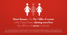 Fight Heart Disease in Women - Go Red For Women: via goredforwomen.org