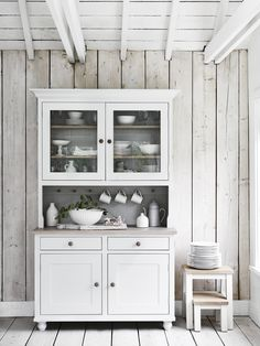 White Kitchen Dresser great way to organize kitchen linens! | house ideas | pinterest