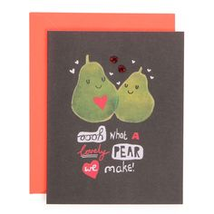 pears valentine's card from Paperchase