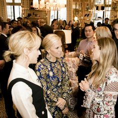Diane Kruger, Tory and Elizabeth Olsen at the Regent Street store party, all wearing Tory Burch at our Regent Store opening party