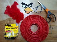 The Contemplative Creative: Project : Angry Birds Lantern Decorations