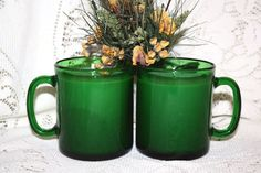 Pair Soy Wax Vintage French Mug Candles by HappyAccidentCandles