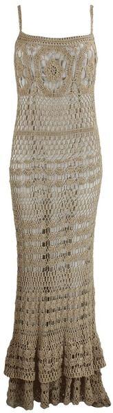 Long Lined Crochet Dress - Lyst