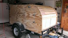 Home built camp trailer.