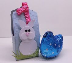 Scallop Tag Topper Box for Easter Create one for Easter - Rabbit made with circle punches, owl punch, cupcake punch and elegant butterfly - perfect size for a medium sized hollow egg! Check out the Video Tutorial or order the class by mail today! #stampinup #scalloptagtopperpunch #Easter