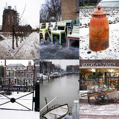 Dordrecht en de tuin van Villa Augustus in de winter