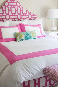 House of Turquoise: Annette Tatum | pink and turquoise bedroom