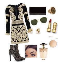 """""""blink"""" by ollalorenza on Polyvore featuring For Love & Lemons, Balmain, Linda Farrow, Ruth Tomlinson, Chico's, Prada and Topshop"""