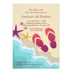 ab44d9cd78ff10 Beach Flip Flops Invitation Beach Flip Flops