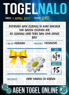 Kode Wangsit 4D Togel Wap Online TogelNalo Jambi 1 April 2017