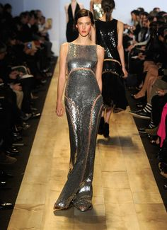 I love this silver gown by michael khors!! Fall 2012