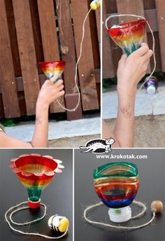 Cool DIY projects with plastic bottles - DIY plastic bo . - DIY ideas - Cool DIY Projects With Plastic Bottles – DIY Plastic Bo … bottle - Diy Projects Plastic Bottles, Empty Plastic Bottles, Plastic Bottle Crafts, Plastic Plastic, Plastic Bottle Planter, Kids Crafts, Summer Crafts, Easy Crafts, Preschool Crafts